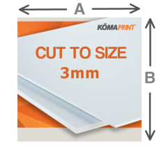 3MM White Foam PVC Cut to size