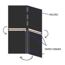 V-Flat Black Portable