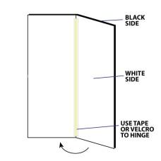 V-Flat Black-White Reversible