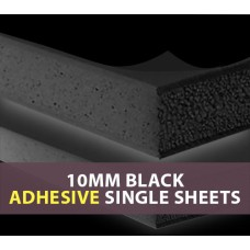 10MM Black ADHESIVE Foam Board Single Sheets